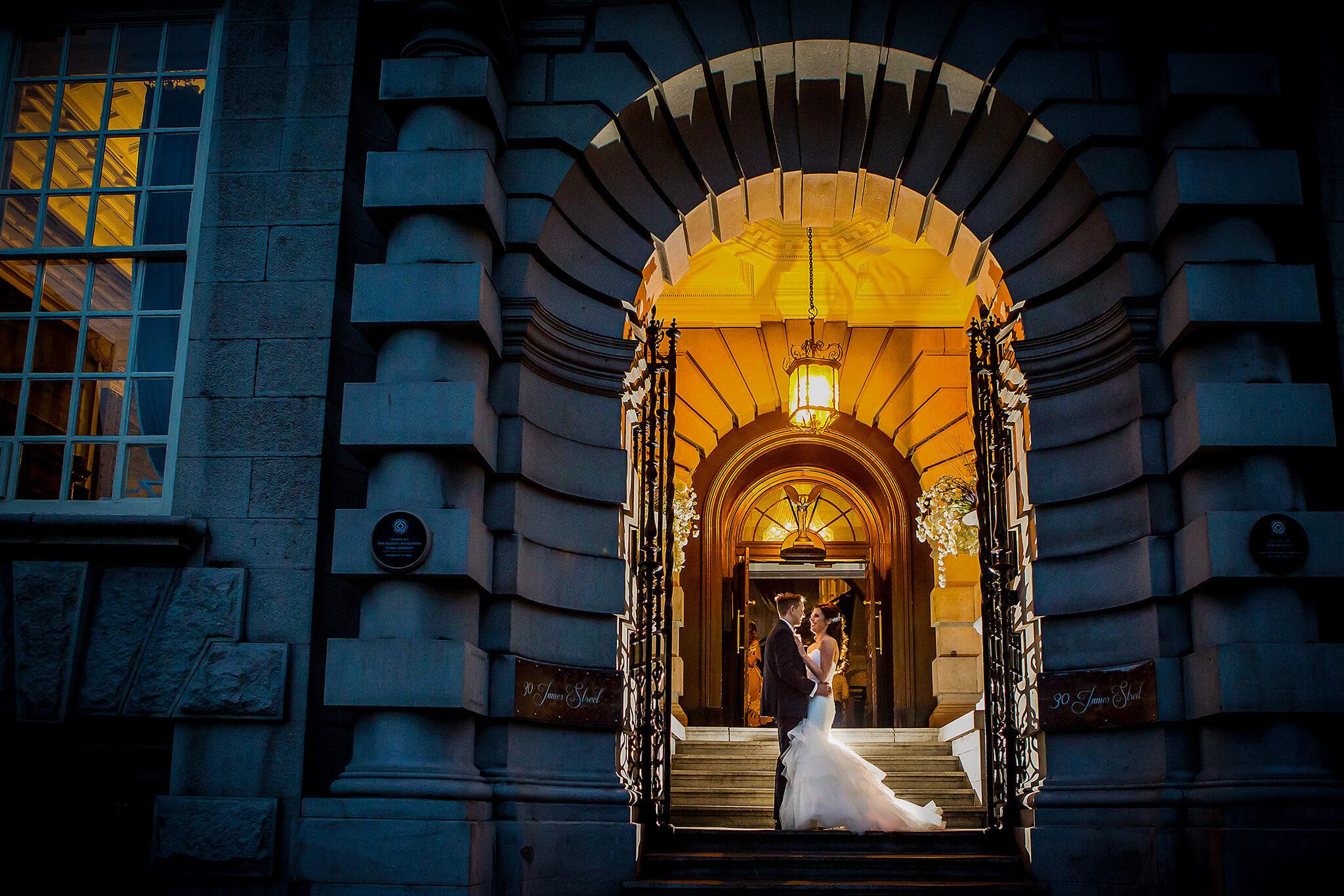 bride-groom-evening-30-james-street-liverpool-wedding-photography