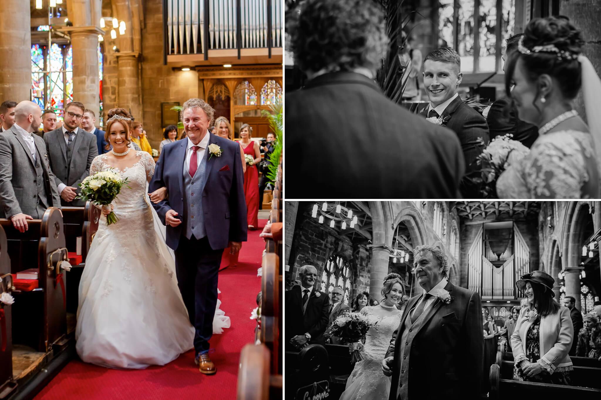 bride-walking-up-aisle-wedding-photography-stanbury-photographers