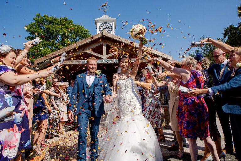 confetti-bride-groom-colshaw-hall-cheshire-photographers-stanbury