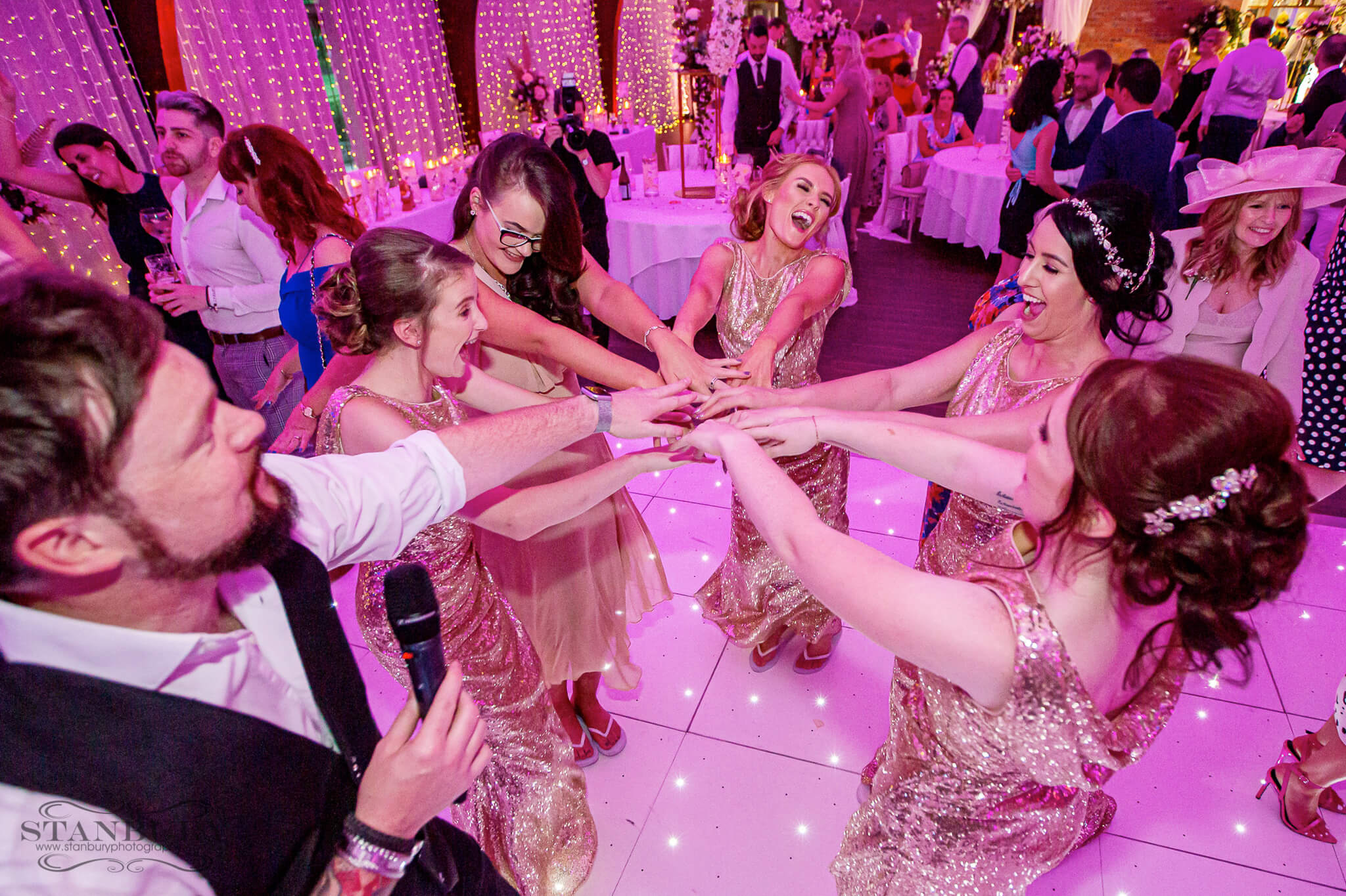 dancing-bridesmaids-colshaw-hall