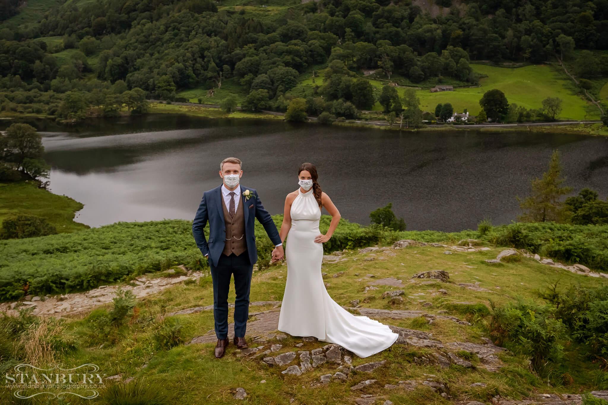 face-masks-bride-groom-wedding-day